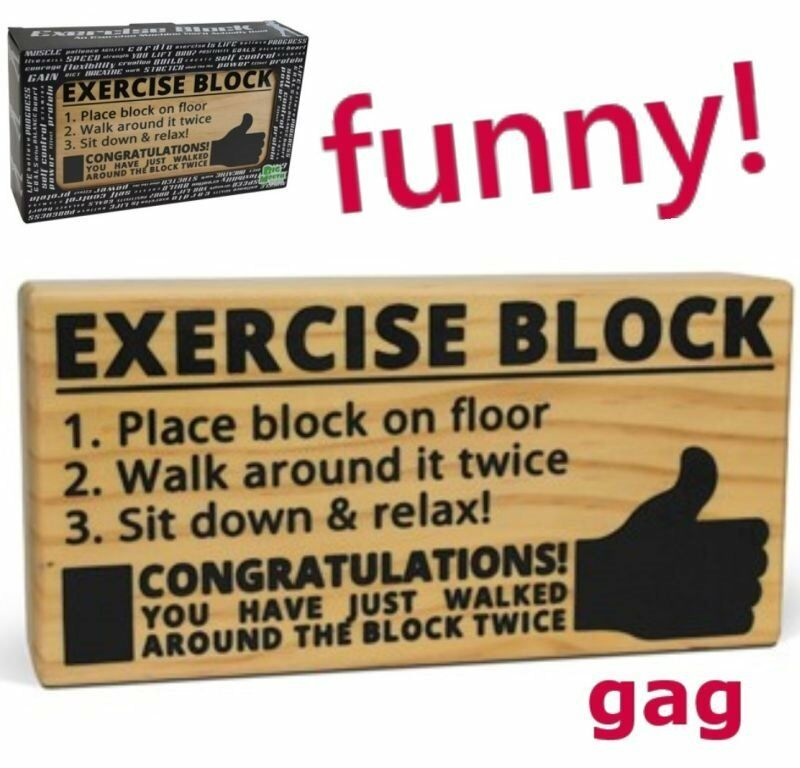 Exercise Diet Block ~walk around~ Weight Loss Fitness Gag ...