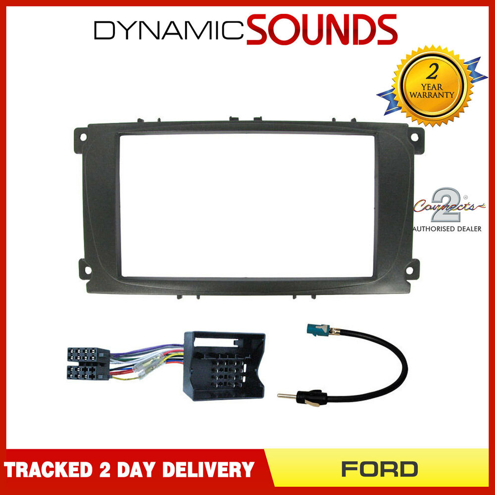 double din stereo fascia fitting kit wiring for ford. Black Bedroom Furniture Sets. Home Design Ideas