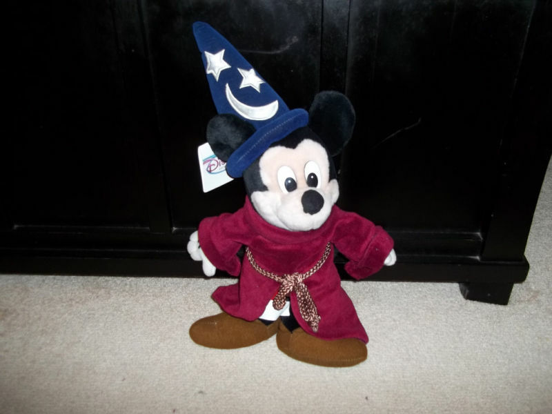 Disney store fantasia sorcerer mickey mouse plush new ebay - Disney store mickey mouse ...