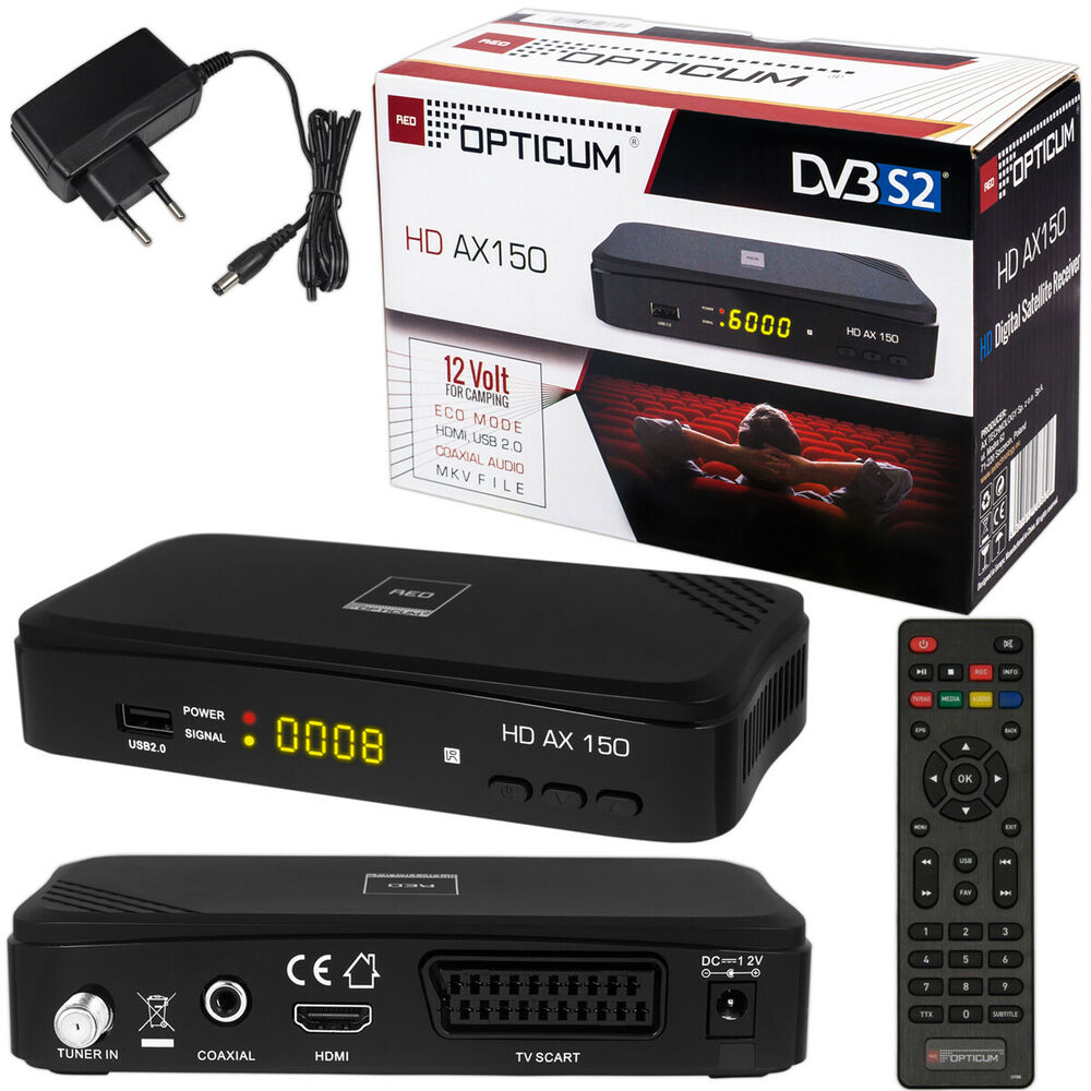 hd tv full digital sat receiver opticum ax150 ax 150 hdmi dvb s2 usb easy find 4043052110590 ebay. Black Bedroom Furniture Sets. Home Design Ideas