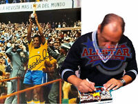 """CARLOS ALBERTO TORRES SIGNED BRAZIL 1970 WORLD CUP 10""""x8"""" PHOTOGRAPH SEE PROOF"""