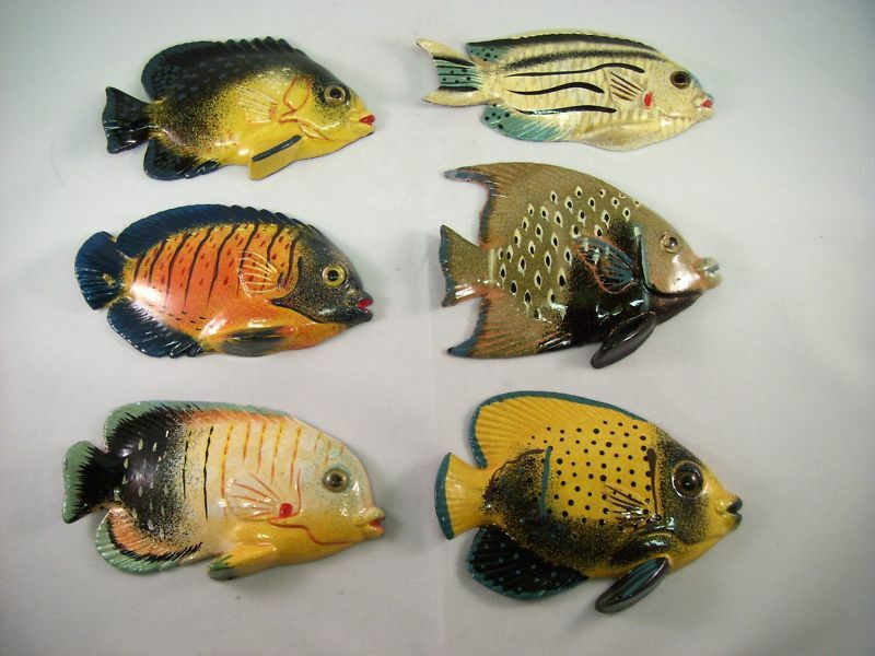 Lot Of 36 Tropical Fish Magnets Assorted 2 Ebay