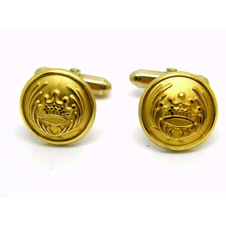 img-NAVAL BUTTON BADGE DESIGN SHIPPING TYPE NAVY CUFFLINKS RN MILITARY IN GIFT POUCH