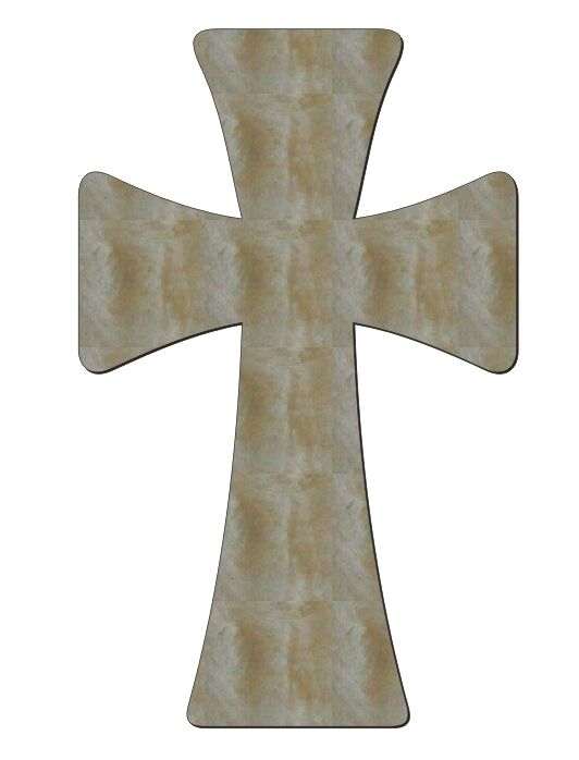 Unfinished wood cross germanic rounded 15 39 39 tall ebay for Cheap wooden crosses for crafts