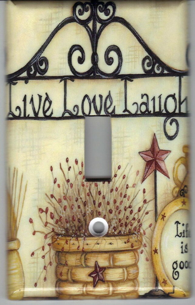 Americana Live Love Laugh Home Wall Decor Light Switch
