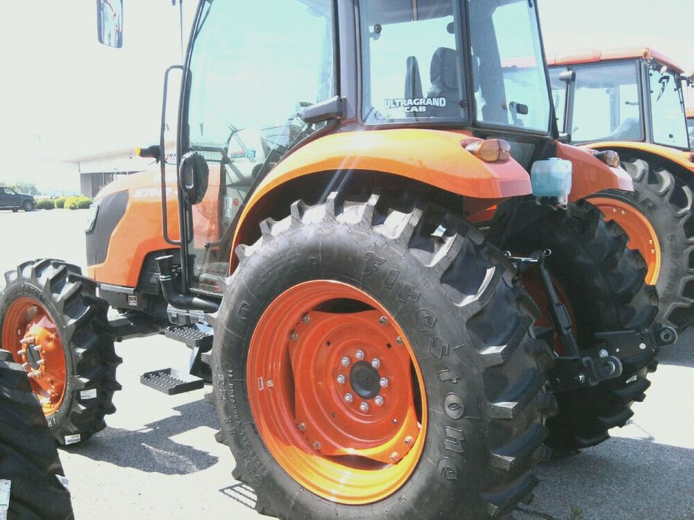 Kubota Tractor Tires And Wheels : Two ply kubota m r bar lug tractor