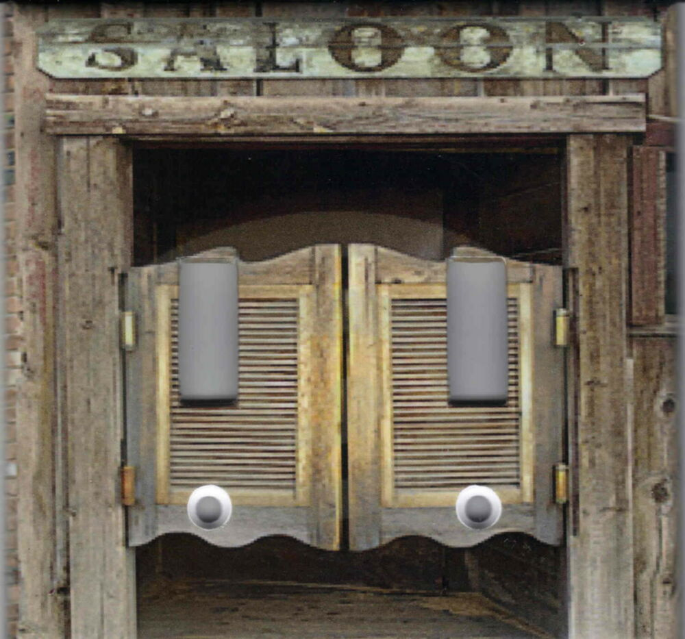 Western Saloon Doors : Western saloon doors home decor double light switch plate