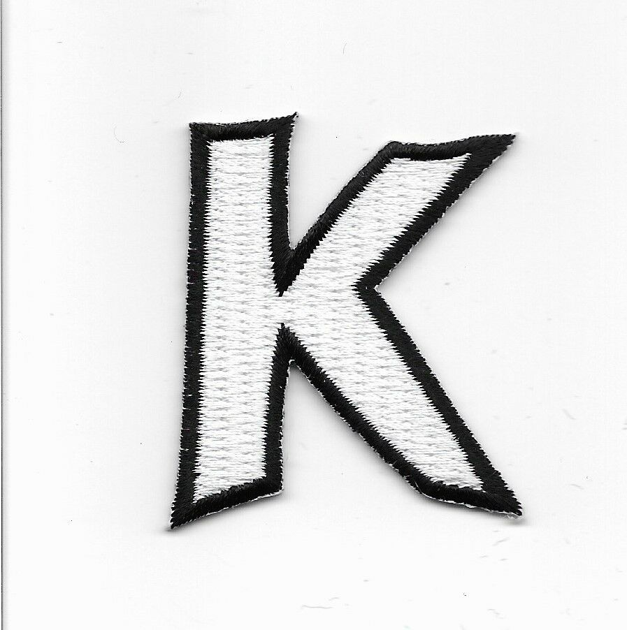 embroidered letter patches letter k embroidered iron on alphabet patch wx0019k ebay 21477