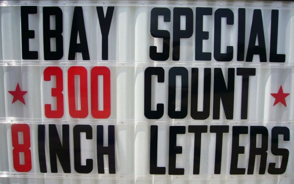 8 inch flexible plastic outdoor marquee sign letters ebay