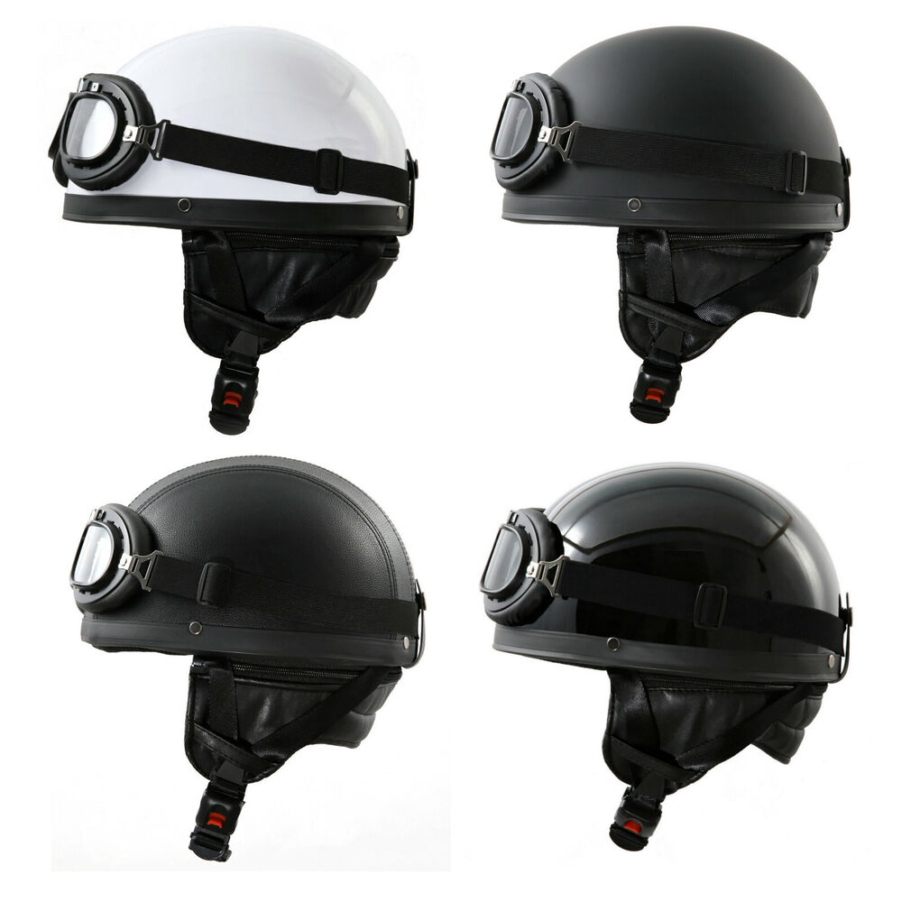 oldtimer helm halbschale brille f r ddr moped b ware ebay. Black Bedroom Furniture Sets. Home Design Ideas