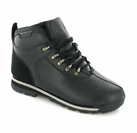 New Mens Black Walking Lace Up Fashion Boots Size 6-12