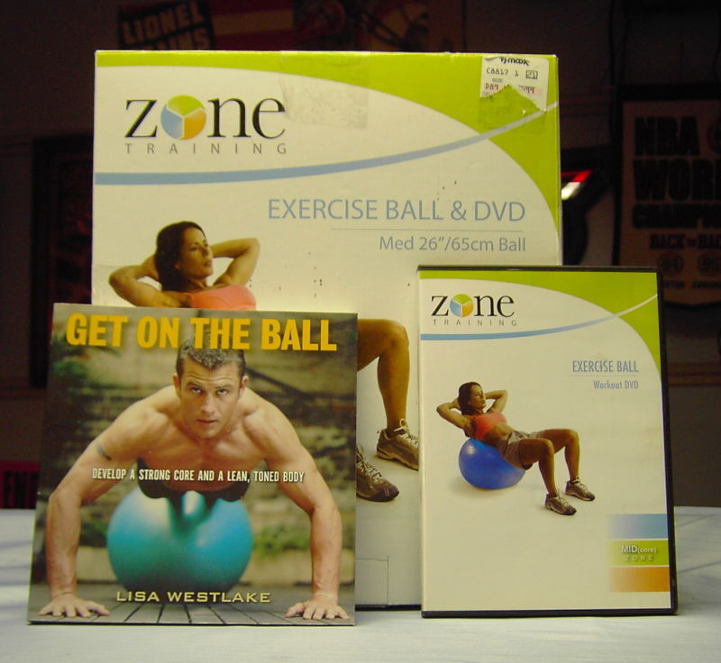 """Balance Ball Dvd: ZONE Training 26""""/65cm Exercise Ball With DVD & Book"""