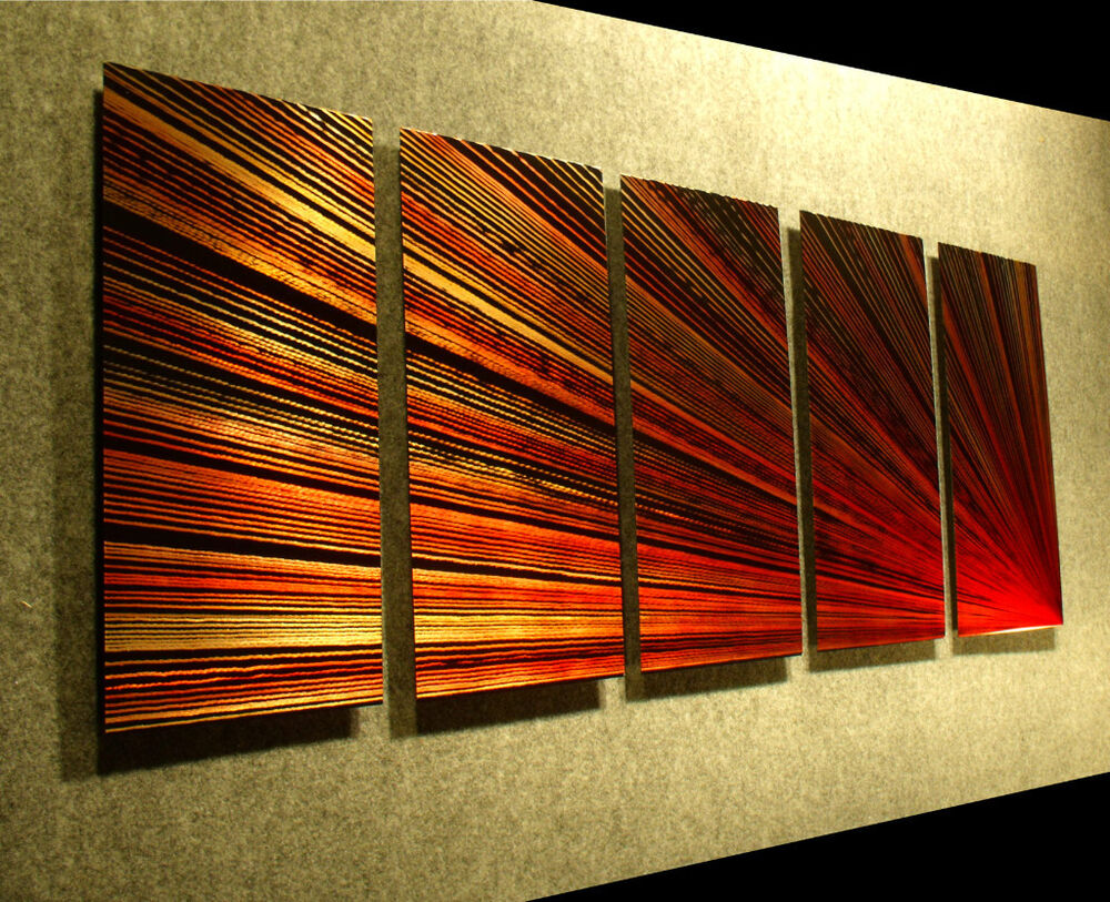 Metal wall art original work abstract sculpture painting for Wall artwork paintings