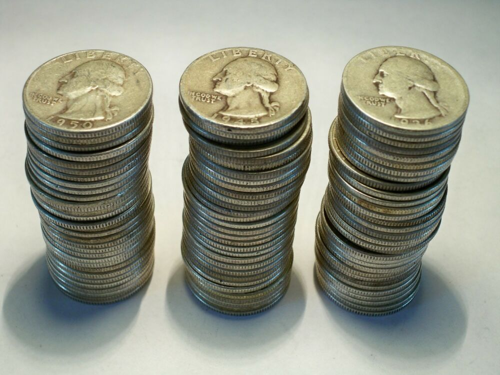 1 Washington Silver Quarter Roll From Lot 40 Quarters Ebay