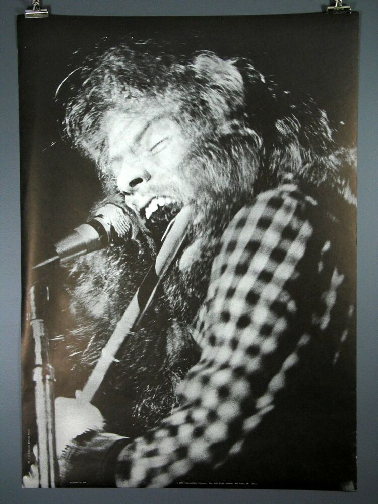 ian anderson  jethro tull  vintage flute poster 1971