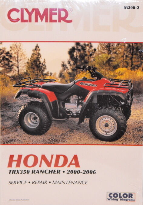 new honda atv trx350 350 rancher repair manual new