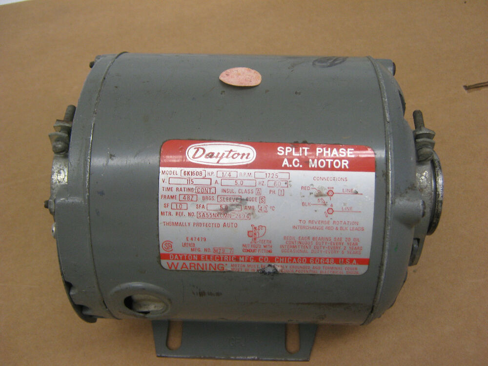 Dayton split phase ac motor mod 6k160b ebay for Split phase ac motor