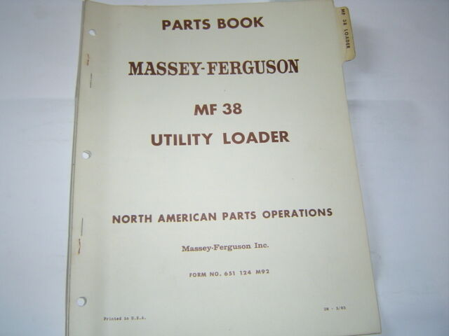 Massey Ferguson 32 Loader Parts : Massey ferguson mf utility loader parts book catalog ebay