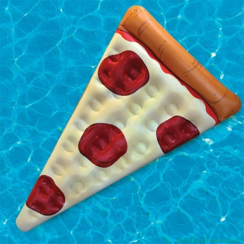 Pepperoni pizza slice pool float raft 5 ft big mouth for Pool 5 in 1 tabs