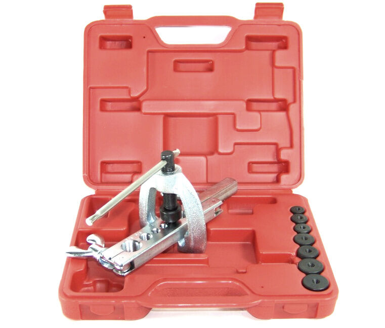 Inline Flaring Tool : Pro brake and air line double flaring tool set steel