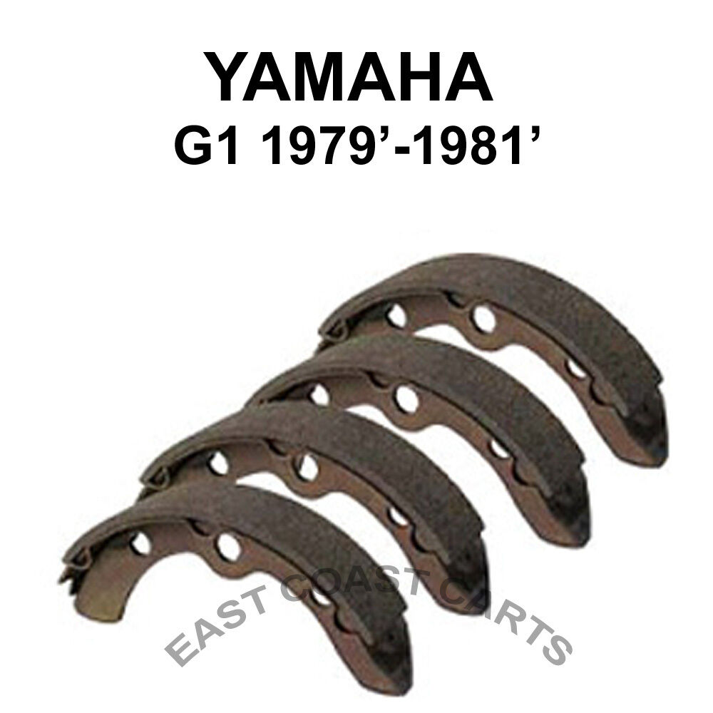 Yamaha G1 Golf Cart 1979 1981 Rear Brake Shoe Set 4 J10 W2536 Ebay Gas Wiring