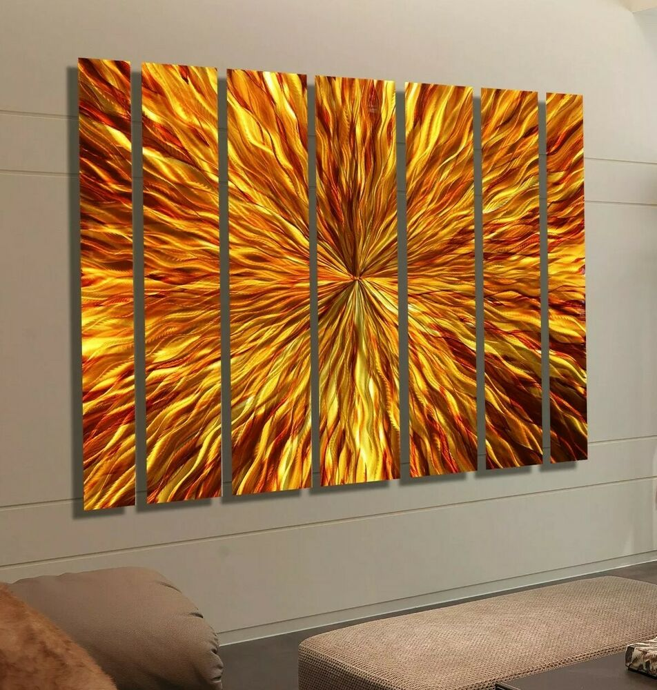 Huge Modern Abstract Metal Wall Decor Painting Commercial