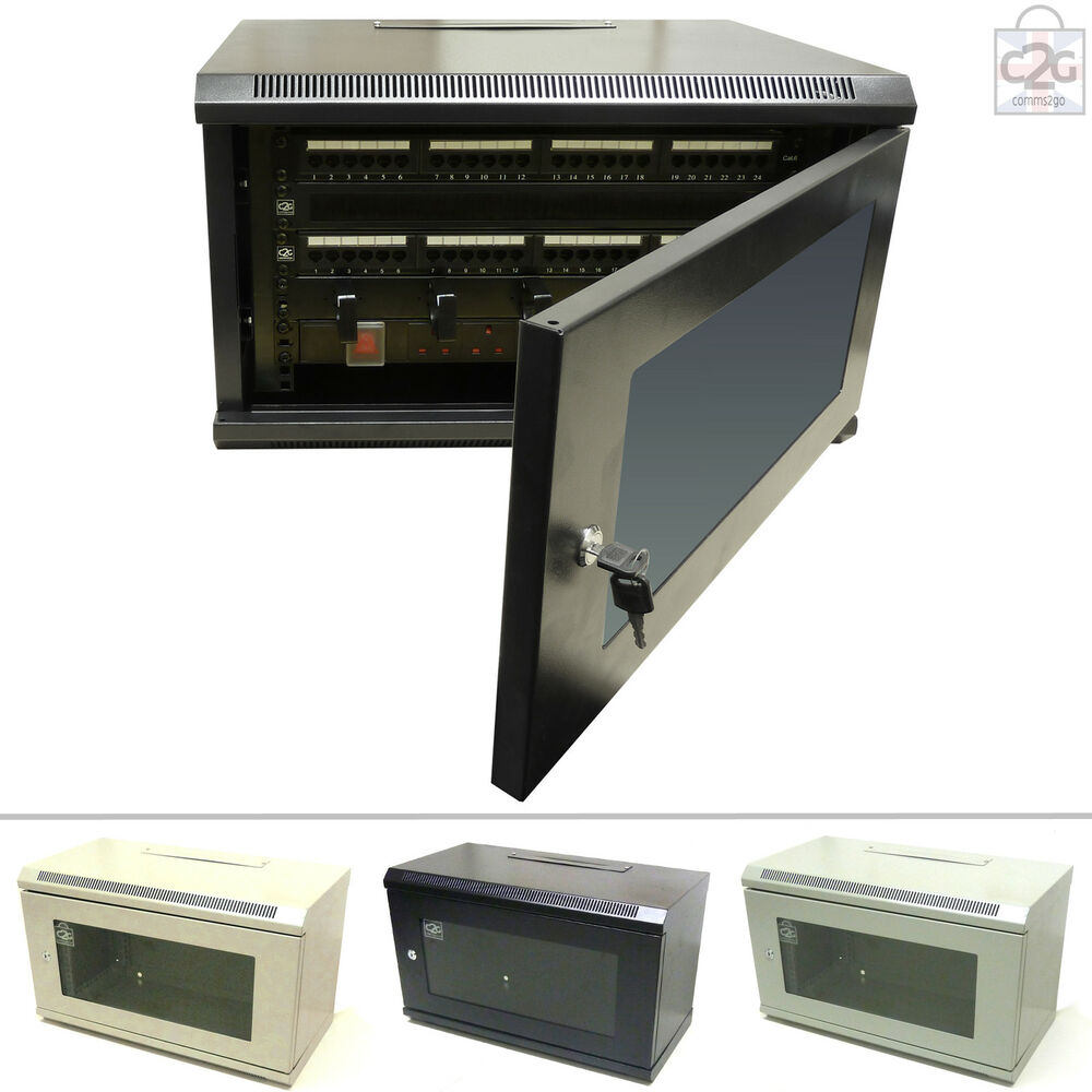 6U Wall Cabinet Network Data Rack For Patch Panel & PDU