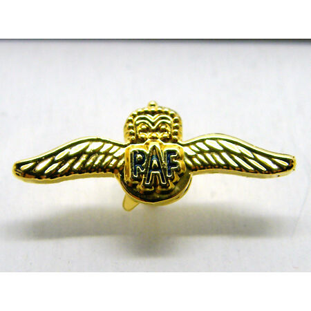 img-RAF WINGS DESIGN LAPEL BADGE ROYAL AIR FORCE R A F FREE GIFT POUCH MOD APPROVED