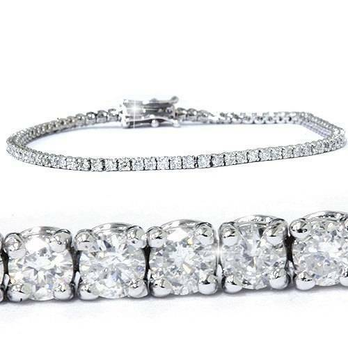 3ct round cut diamond tennis bracelet in 14k white gold 7. Black Bedroom Furniture Sets. Home Design Ideas