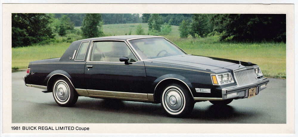 Vintage Advertising Card 1981 Buick Regal Limited Coupe Ebay