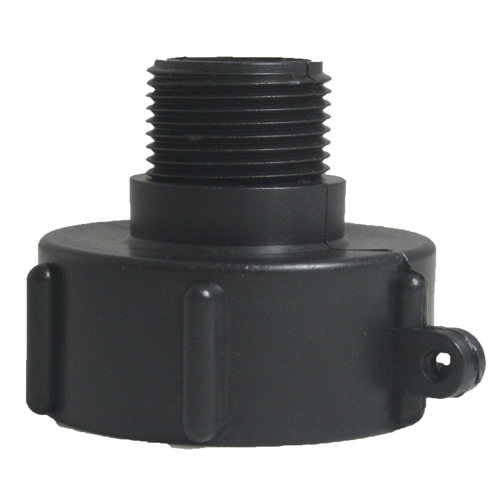 1000l ibc water tank 50mm heavy duty bsp adaptor with 50 x 25mm reducing nipple ebay. Black Bedroom Furniture Sets. Home Design Ideas