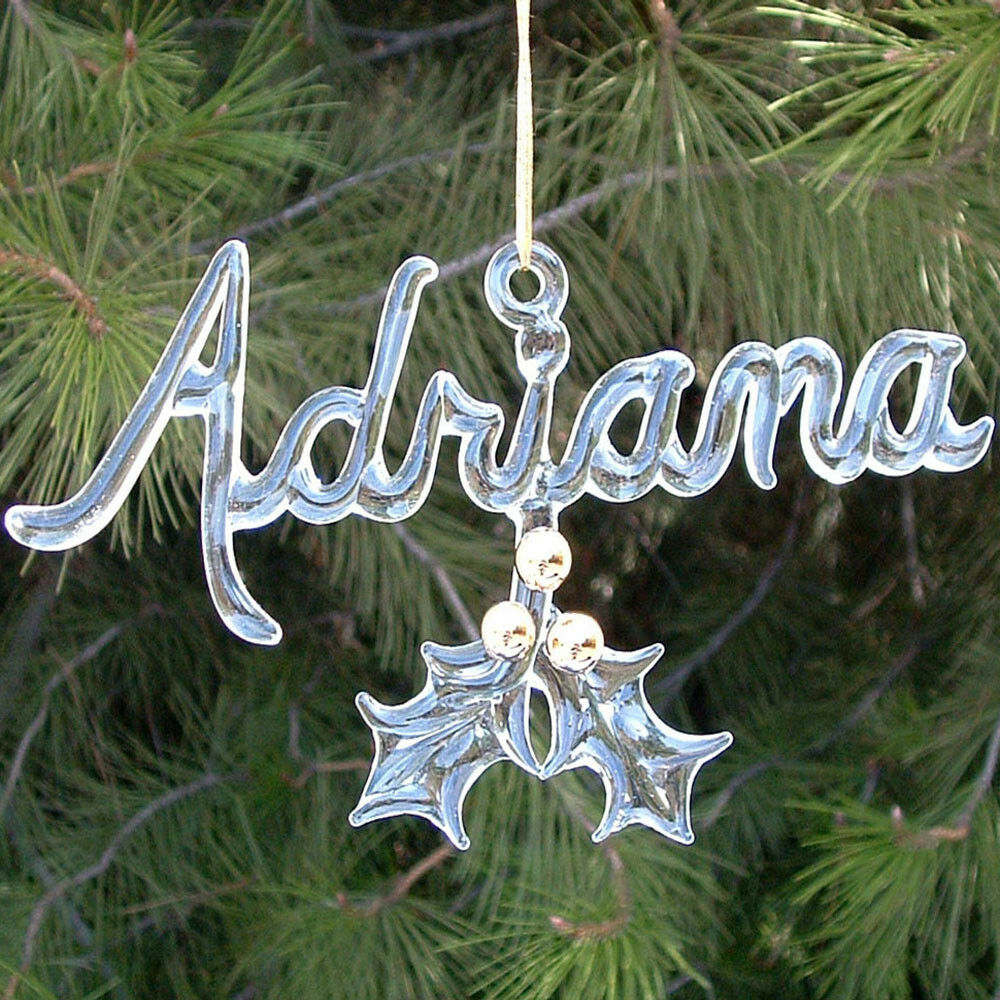 Personalized Hand Blown Glass Christmas Tree Ornament | eBay