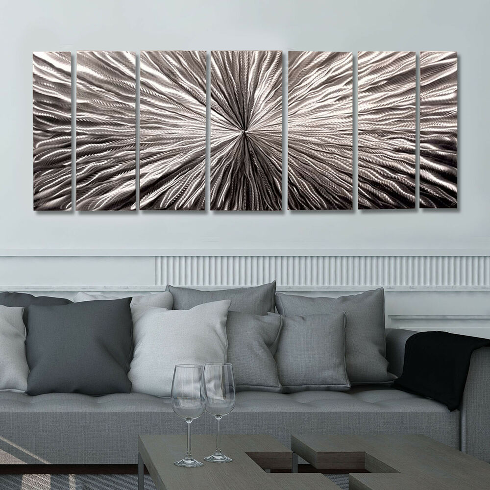 Large H Wall Decor : Large contemporary abstract metal wall art sculpture