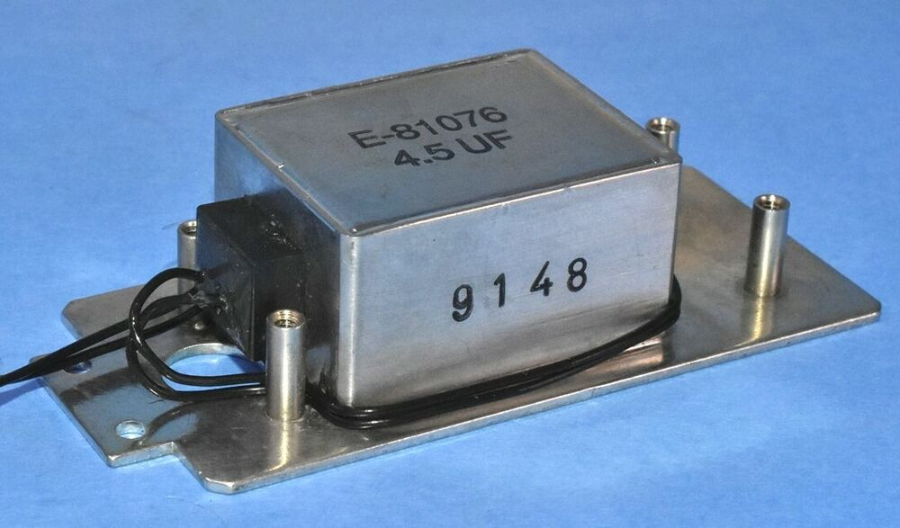 Ge Aircraft Engine Capacitor Part E81076 Mil Spec 4 5uf