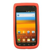 Red Rubber SILICONE Skin Soft Gel Case Phone Cover for Samsung Exhibit 2 II 4G