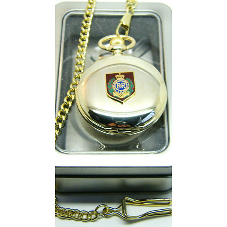 img-THE ROYAL ENGINEERS SAPPER PRIVATE BADGE ARMY MILITARY POCKET WATCH CHAIN GIFT