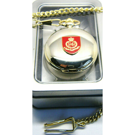 img-THE ROYAL MILITARY POLICE BADGE POCKET WATCH AND CHAIN ARMY MILITARY GIFT BOX