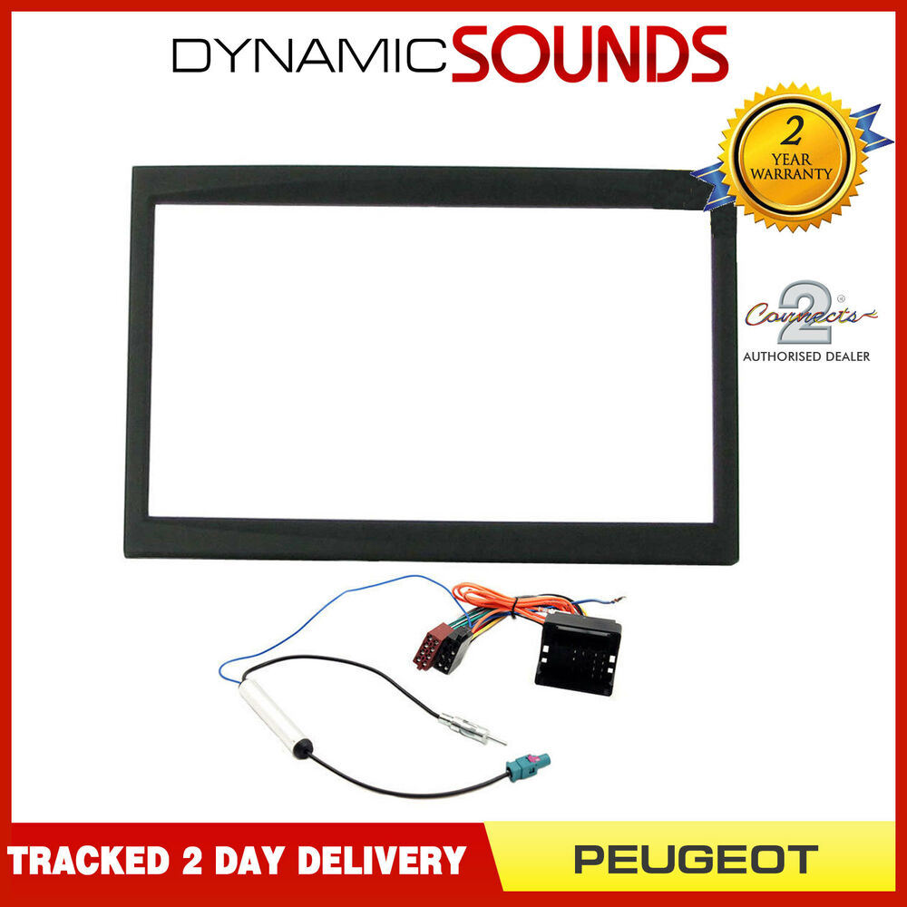 Car Stereo Fascia Replacement Fitting Kit Wiring Harness For Peugeot 207 307 Ebay