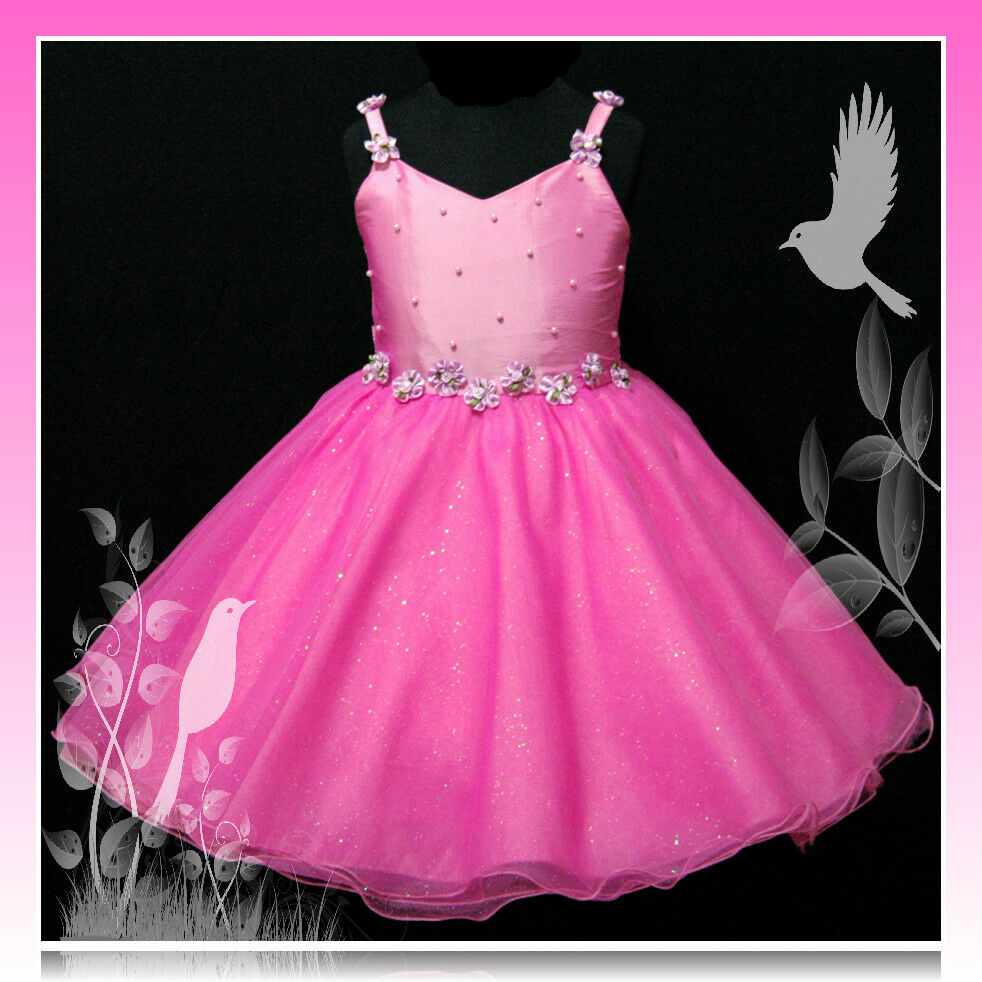 Christmas party pageant flower girls dresses size 2 3 4 5 6 7 8 10