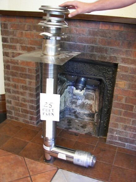 CHIMNEY FLUE EXHAUST KIT FIREPLACE INSERT For CORN Or