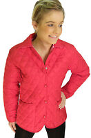 Campbell Cooper Brand New Ladies Fitted Quilted Riding Jacket Coat Red