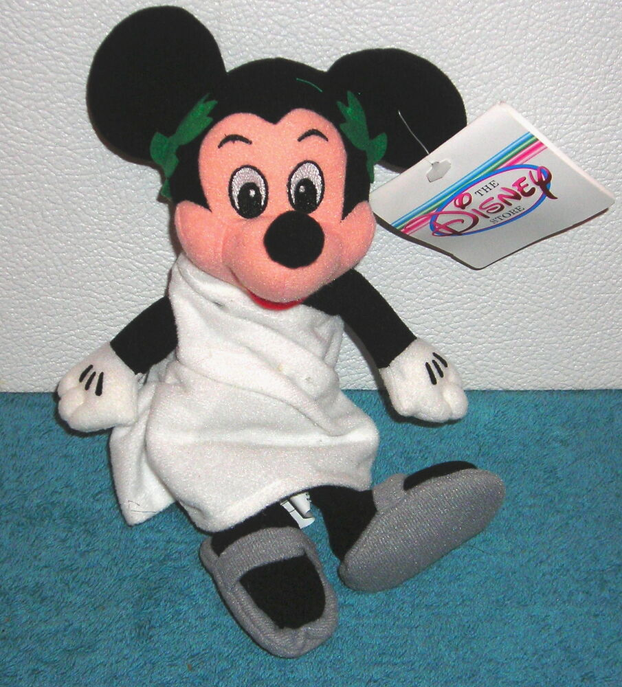 Disney store exclusive mickey mouse animal house toga 9 plush bean bag toy ebay - Disney store mickey mouse ...