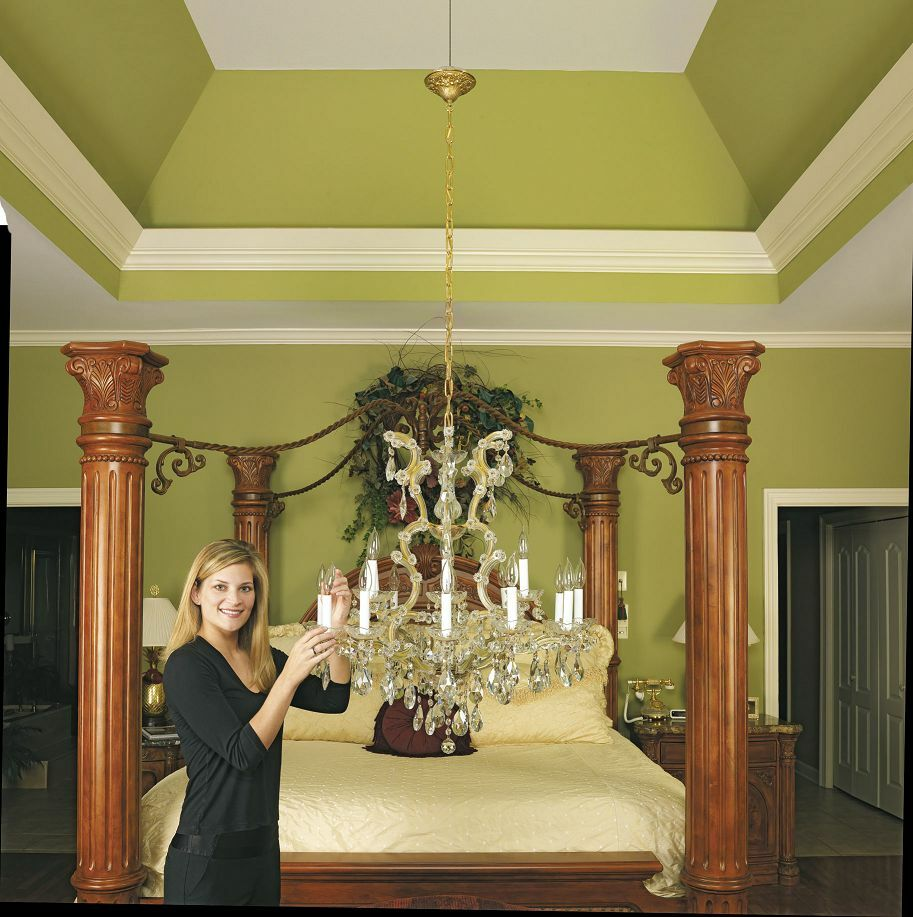 Foyer Chandelier Lift : Aladdin chandelier lift e z cleaning top quality lb