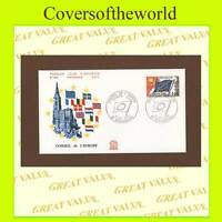 France 1976 Council of Europe, 1.0f Flag, First Day Cover