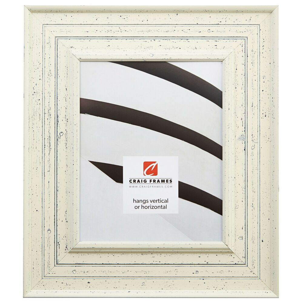 Craig frames traditional 3 weathered off white wood - White wooden picture frames ...