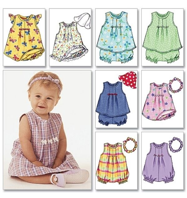 Butterick 3405 Sewing Pattern To Make Infant Baby Dress W