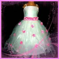 Kids Pinks White Wedding Party Pageant Flowers Girls Dress SIZE 2-3-4-5-6-7-8-9Y