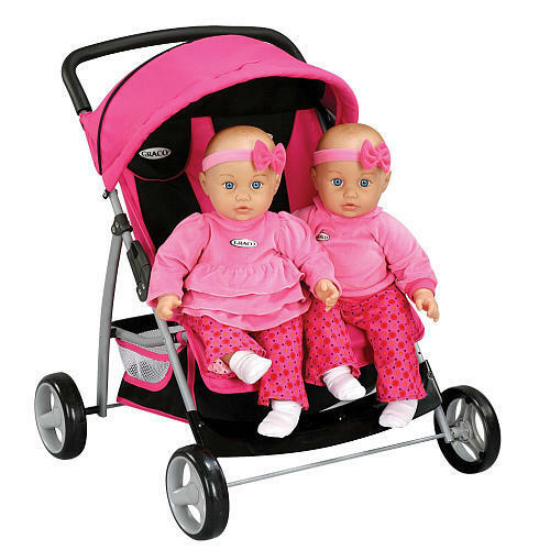 Toys For Twins : Kids graco baby twin doll stroller double side by
