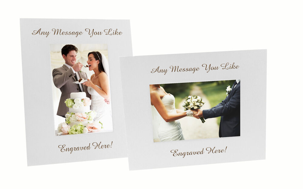 Personalised White Wooden Photo / Picture Frame EngravedWedding ...
