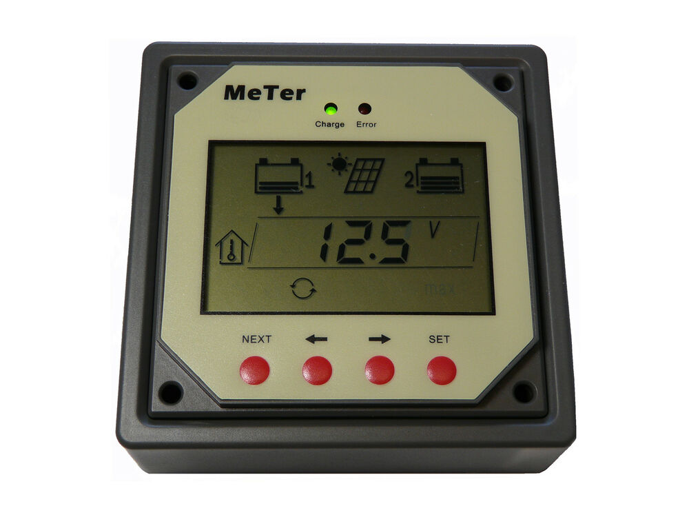 Solar Battery Meter : Remote meter for dual battery solar controller ebay